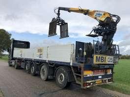 flatbed semi trailer Pacton 4 as steentrailer + kennis kraan 2004