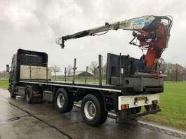 flatbed semi trailer Pacton 2 as steenoplegger + Kennis 14 tm kraan 2000