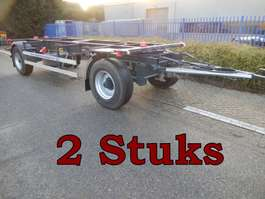 drop side full trailer Kaessbohrer & Krone Tbv BDF - Containertransport, 2 Stuks