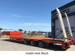 lowloader semi trailer Lintrailers LSDU 18-24/TELE 6,50M/ALU-Rampen/Seilwinde 7t 2005