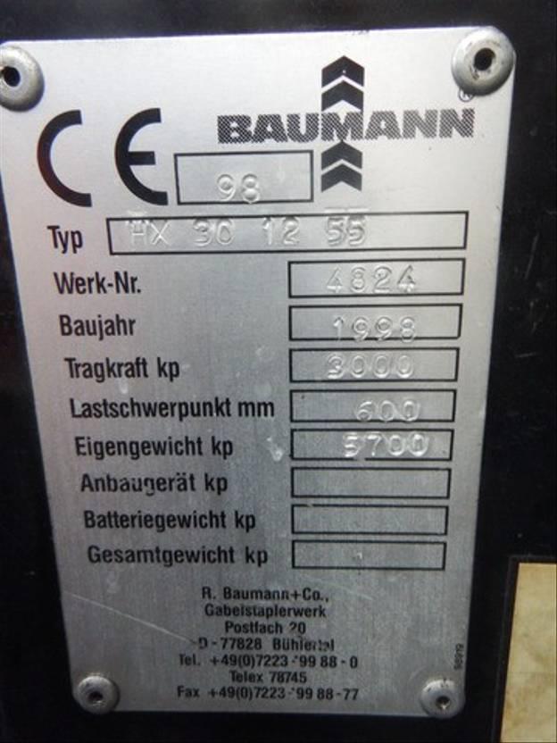 forklift Baumann HX 30/12/55 1998