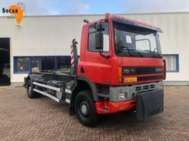 camión contenedor DAF 75 240 ATI 4X4 MANUAL FULL STEEL 1996