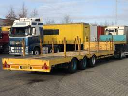 semi lowloader semi trailer SEMI TIEFLADER / 6.50MTR TELESKOPIERBAR 1991