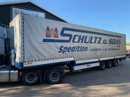 semi lowloader semi trailer Fliegl SDS 360 Semi-Schuifzeilen Pritsche/Plane Bordwanden 2008