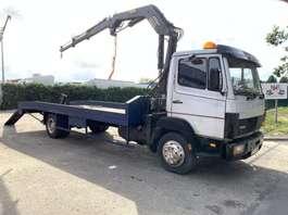 car transporter truck Mercedes Benz 1114 ECOLINER + TICO CRANE - STEEL SPRING SUSPENSION / SUSP. LAMES / BAL... 1990