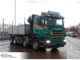 tipper truck Scania R 480, Steel springs, Reduction axle, HMF 1820 K4