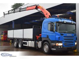 platform truck Scania P 420, Euro 5, PK 18500 C Palfinger, 6x2, Truckcenter Apeldoorn 2008