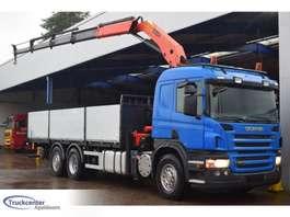 drop side truck Scania P 420, Euro 5, PK 18500 C Palfinger, 6x2, Truckcenter Apeldoorn 2008