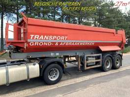 tipper semi trailer ATM 2-AS HALF-PIPE - STAAL CHASSIS / STALEN KUIP - HYDR KLEP - +/- 27 m³ - B... 1994