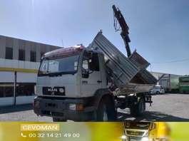 tipper truck MAN 13.224 4x4 kipper kraan 1996