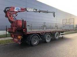 flatbed semi trailer Kennis Pacton steenoplegger + Kennis kraan 14tm 2001