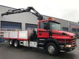 crane truck Scania T124 Manual, Retarder, HIAB 195-3 Hi duo(2004), Radiografisch 1998
