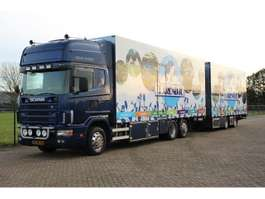 closed box truck Scania R124.420  6X2/4  HOLLAND TRUCK 2002