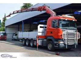 drop side truck Scania R500 8x4, Fassi F310, Retarder, Euro 4, Truckcenter Apeldoorn 2008