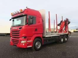 camião de transporte de madeira Scania R520 6x4 Highline Palfinger Epsilon MT12 Holzzug 2014