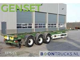 semirremolque de chasis contenedor HFR SB24 40ft HC + GENSET 2011 * 1187 HOURS * 4460 Kg Netto * 2008