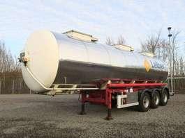 semi-remorque à citerne Lebenmittel Tankauflieger Edelstahl isoliert 30 KL 1999