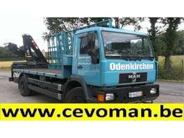 crane truck MAN 18.264 Plateau + Autolaadkraan HIAB 1997