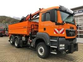 tipper truck MAN TGS 28.360 6x4-4 BL *ATLAS TLC 88.3 Arbeitskorb 2011