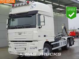 container truck DAF XF105.460 6X2 AJK Hooklift SSC Intarder Euro 5 2014