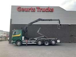 camion conteneur Scania G 440 8X2 HAAKARMSYTEEM+ PALFINGER EPSILON Z KRAAN 2012