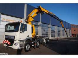 crane truck DAF FAD CF 440 8x4 Effer 92 ton/meter laadkraan + Jib 2015