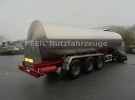tank semi trailer semi trailer Magyar SRP 3 MEB- Lebensmitteltank - Drucktank-27.500 l 1992