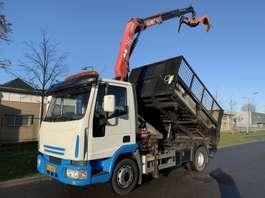 camion à benne basculante Iveco 120 EL 17 KIPPER / CRANE 2004