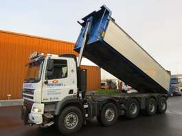 camion à benne basculante DAF CF 85.410 10x4 Kipper blattgefedert!!!!!!!!! 2007