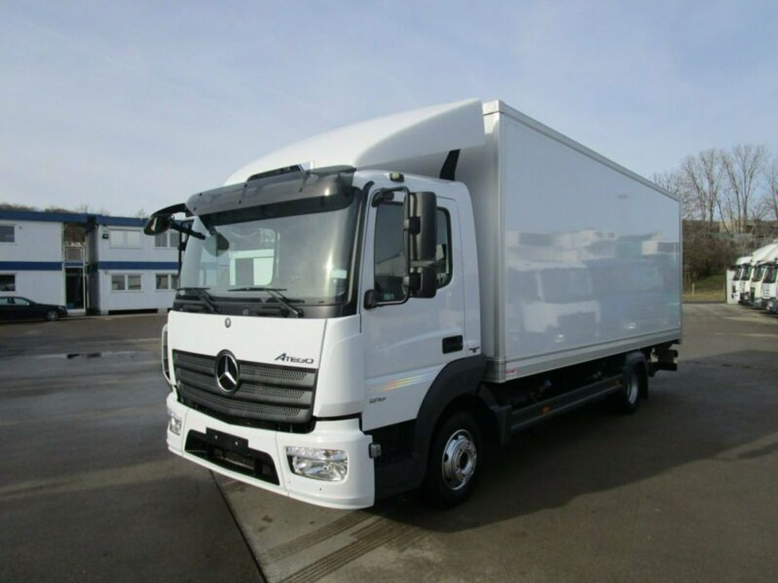 closed box truck > 7.5 t Mercedes Benz ATEGO IV 816 L ISOLIER-Koffer 6,10 m LBW 1 to. 2014