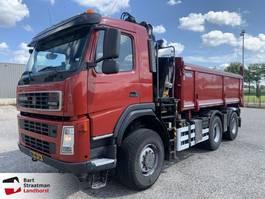 tipper truck > 7.5 t Terberg FM1350 6x6 euro 5 met HMF Z-Kraan 2010
