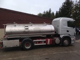 tank truck Scania R420 CITERNE EN INOX 3 COMPARTIMENTS 9500 L 2008