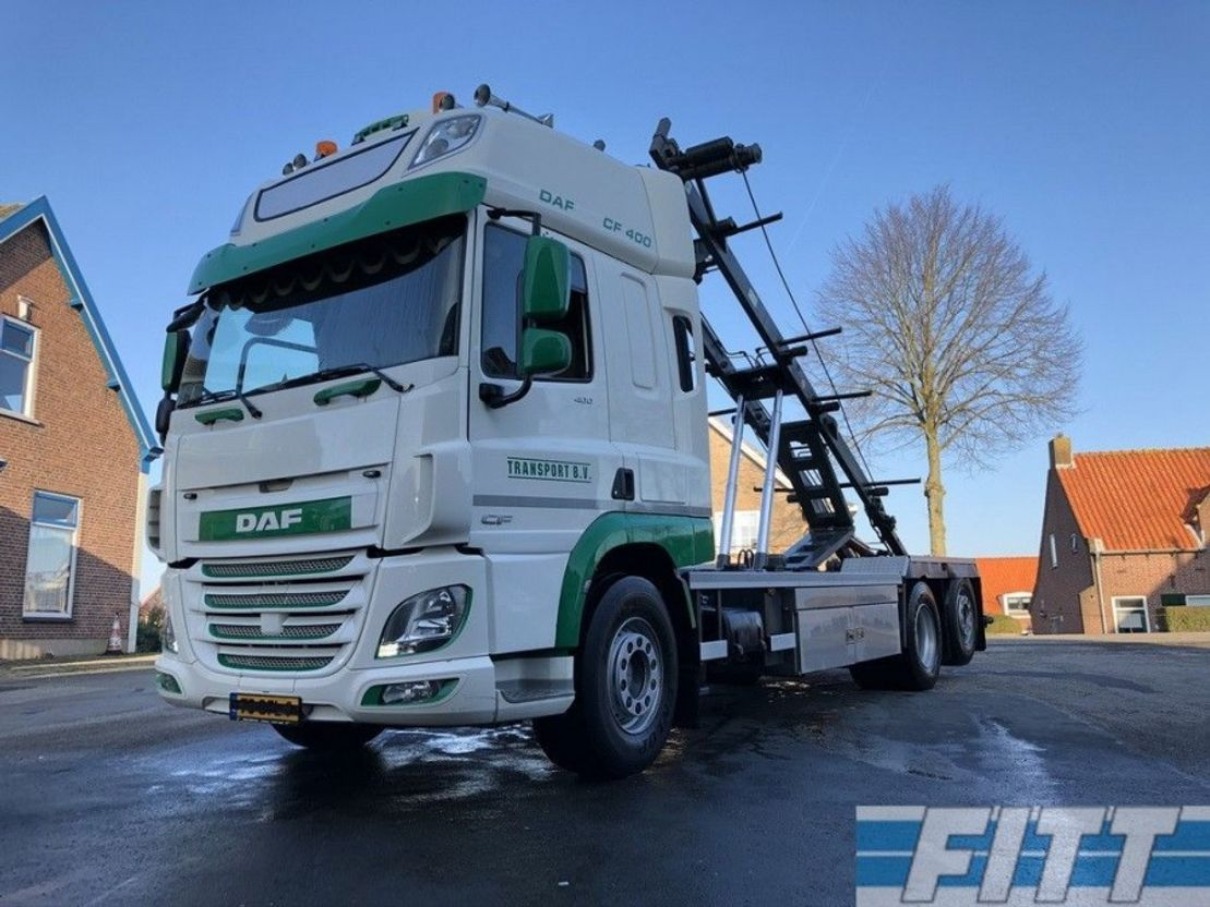 camión contenedor DAF FAN CF 400 6x2 HTS container systeem 2015