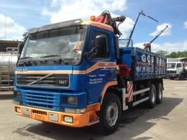 tipper truck > 7.5 t Volvo FM7 6X4 WITH PALFINGER PK14080+REMOTE CONTROL 2001