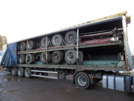drop side semi trailer Stapel van 5 opleggers 2004