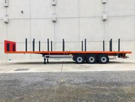 flatbed semi trailer Möslein STO 3 Schwebheim  3 Achs Plattform Auflieger mit Rungen-- Neufahrzeug -- 2020