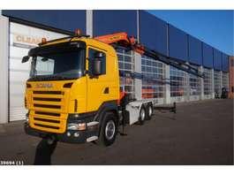 camion grue Scania R 420 6x4 Retarder Palfinger 44 ton/meter laadkraan 2006