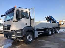 camion della gru MAN TGS 35.440 Tridem Open box-Crane HMF 2200K4 2009