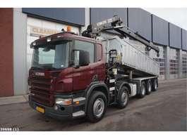 camion grue Scania P 420 10x4 Hiab 22 ton/meter laadkraan 2007