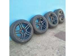 """pieza de coche llanta Mercedes Benz AMG 18"""" with brand new 255/45/18 tyres. 2012"""