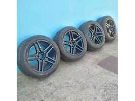 "rim car part Mercedes Benz AMG 18"" with brand new 255/45/18 tyres. 2012"