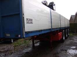 flatbed semi trailer Floor kraanoplegger ook te huur 1998