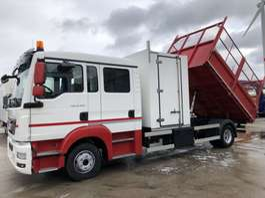 tipper truck MAN TGL 12.220 BB Euro6-Doka 6 -Kipper-Koffer( TOP ) 2014