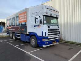 closed box truck Scania SCANIA 144-530 6X2 BAKWAGEN - MET NWE APK MOT !!!! 1999