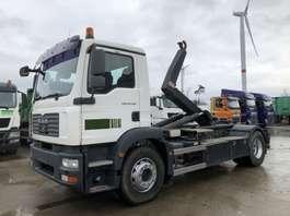 camion portacontainer MAN TGM 18.280 BL  VDL-WAF 14 Ton Haaksysteem 2009