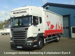 sliding curtain truck Scania R410 Leswagen 6 Zitplaatsen Dubbel bediening EURO 6 Schuifzeilen + o.v.klep 2018