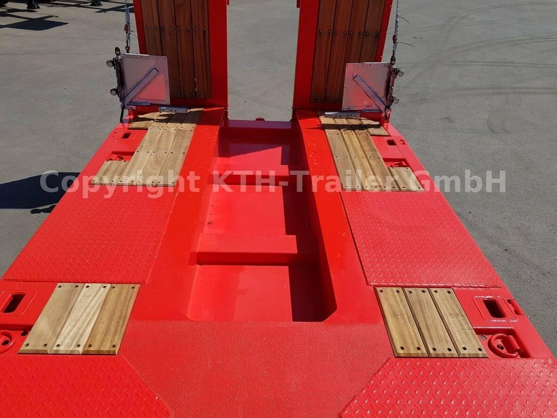Tieflader Auflieger KAESSBOHRER Tieflader Lowbed SLA3 Radmulde/Wheel Recess