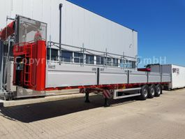 flatbed semi trailer KAESSBOHRER Plattform Leicht SPS 3 Bordwände AUCH MIETE