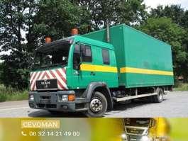 camião de caixa fechada MAN 15.264 doka bakwagen met laadklep 1998
