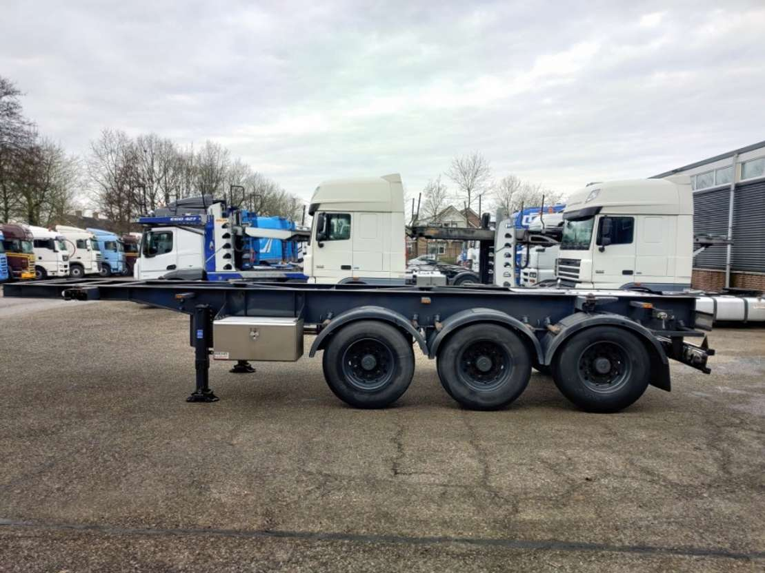 Used Van Hool 3 Assen Saf 20ft Adr Container Chassis Alcoa Velgen Roest Vrij Ban Container Chassis Semi Trailer